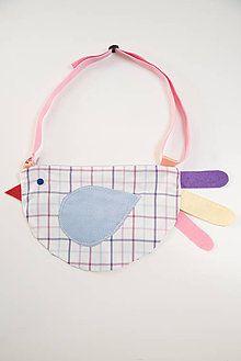 Detské tašky - kabelka sliepočka ružovo páskavá - 7523563_