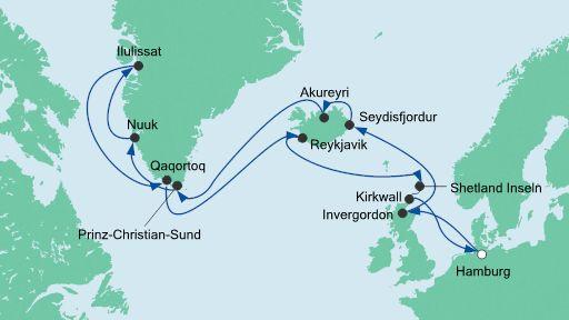Grönland Kreuzfahrt 2016/2017 AIDA Kreuzfahrten , ca. 3200 €