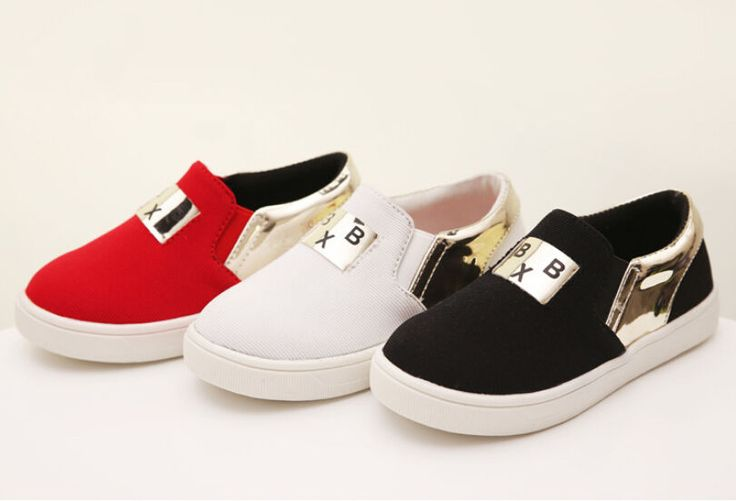 Red Black  Canvas Shoes For Girls Boys  LS-3190