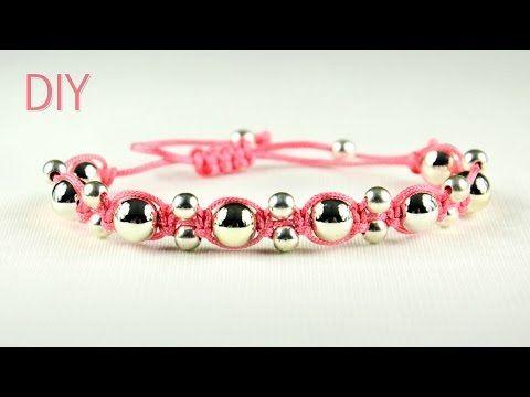 ▶ DIY: Alternating Shamballa Bracelet - Easy Tutorial - YouTube