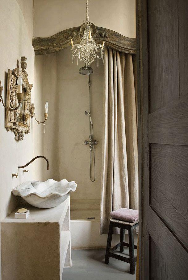 ... Badezimmerideen, Kleines Und Elegantes Badezimmer, Neutrale Badezimmer,  Rustikale Bäder, Traumhafte Badezimmer, Französischer Schick