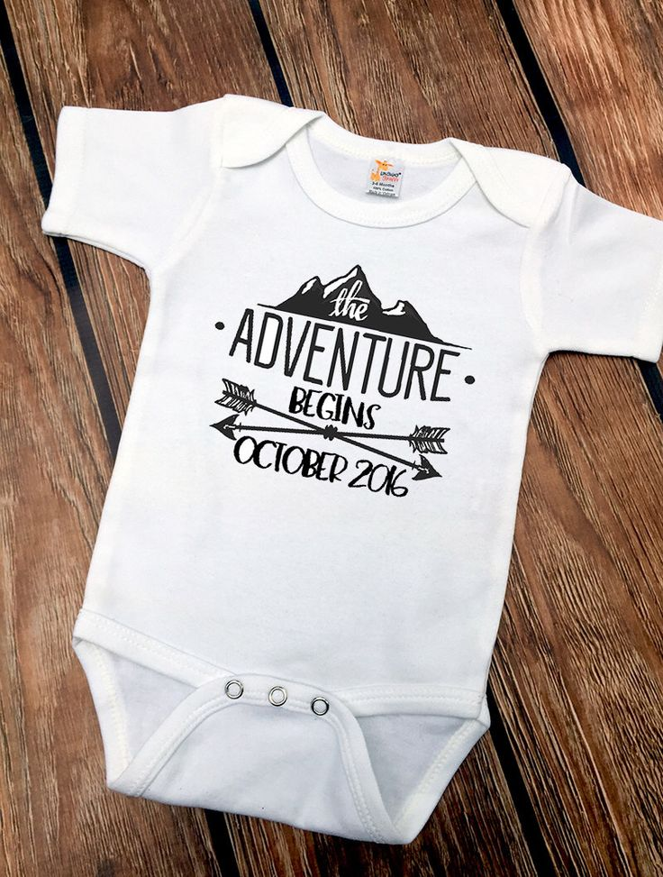 DISCOUNT Code: ANNABELLE15 on all Vazzie Tees purchases <3 The Adventure Begins - Baby Announcement - Baby Bodysuit - Creative Baby Announcements - Photo Shoot - Personalized Announcements by VazzieTees on Etsy https://www.etsy.com/listing/273061124/the-adventure-begins-baby-announcement
