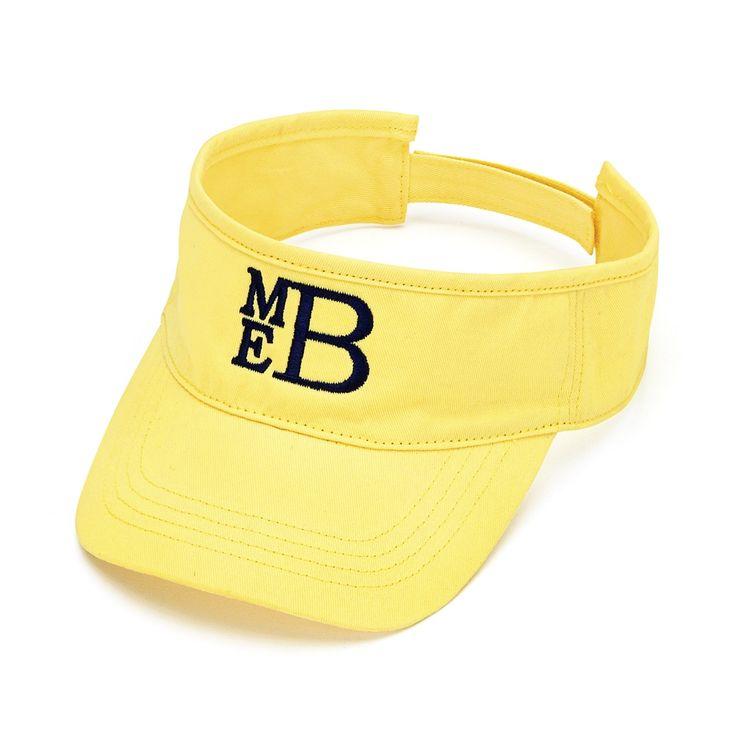 Yellow Personalized Womens VISOR HAT Baseball Cap Beach Pool Sports