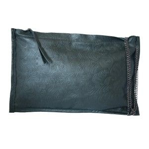 Studio Kropki3 - black clutch purse PARIS - PolscyProjektanci.com