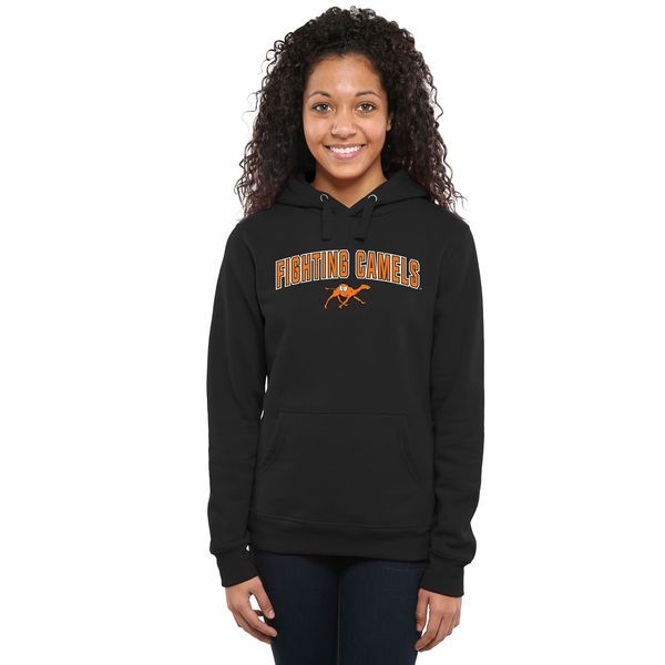 Campbell Fighting Camels Women's Proud Mascot Pullover Hoodie - Black - $44.99