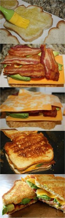 Grilled Cheese with Bacon and Avocado | Food and Drink | Pinterest