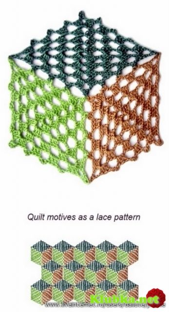 Crochet motifs to create a relief effect!