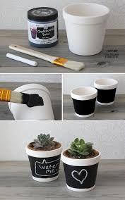 chalkboard plant pots