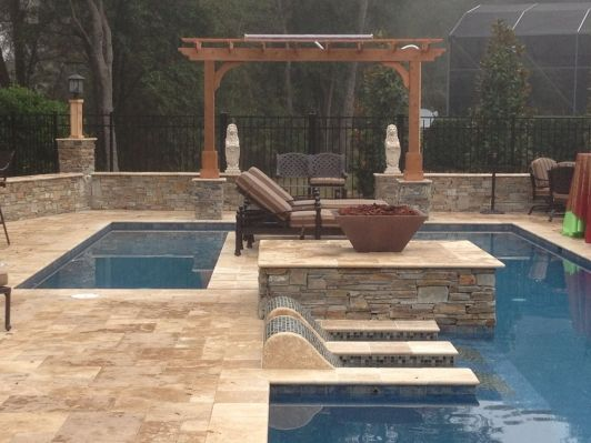 Roman Blend Walnut Travertine Pavers Home And Garden Design Ideas