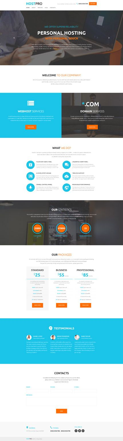 Web #Hosting Services #WordPress #Template is a perfect fit for a variety of…