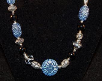 Agata colorata collana  brillante agata argento collana di