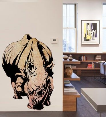 Streetwallz - Rhino Wall Decal, $85.00 (http://www.streetwallz.com/rhino-wall-decal/)