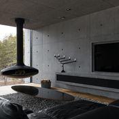 Arkkitehti Pekka Mäen suunnittelema näyttävä ja palkittu betonitalo on rakennettu vuonna 2012 Turun Hirvensaloon. Modernin arkkitehtuurin ja...