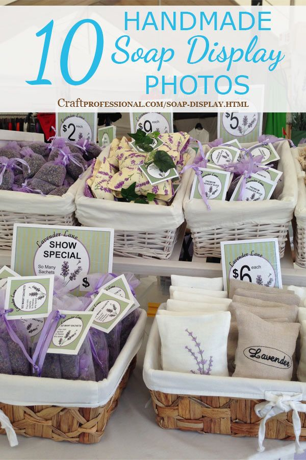 Lots of soap displays for craft fairs here; http://www.craftprofessional.com/soap-display.html