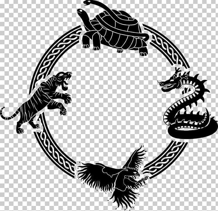 Four Symbols Azure Dragon White Tiger Vermilion Bird Png Azure Dragon Black A In 2020 Dragon Vermilion