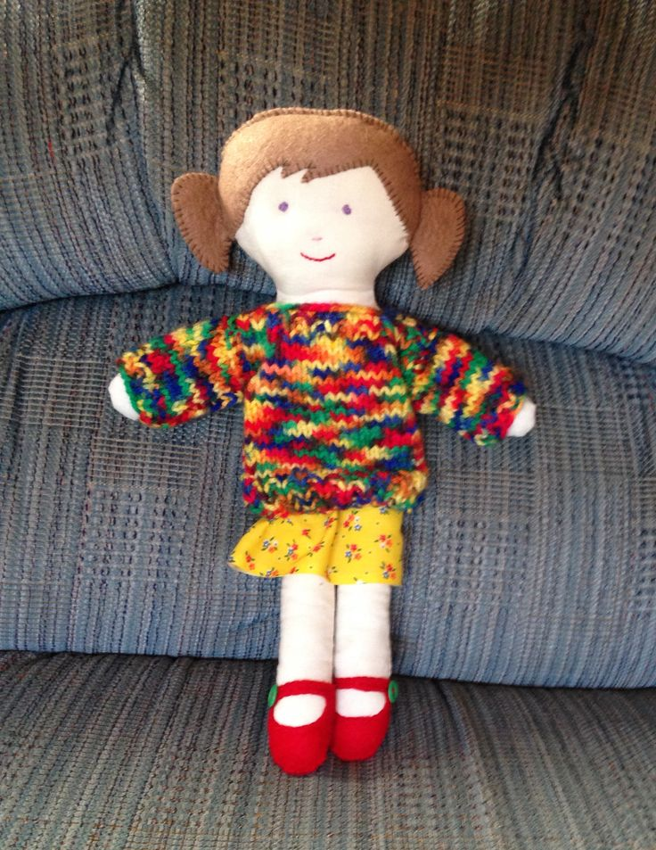 "Trixie: ""Lottie"" doll pattern from Crafty Dolls by Jane Bull. Made by northstar62"