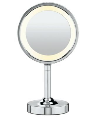 Lighted Vanity Mirror With Storage : Conair Oval Polished Chrome Double-Sided Lighted Makeup Mirror Makeup, Makeup rooms and Vanities