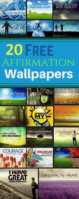Download 20 Free Motivational Affirmation Desktop Wallpapers