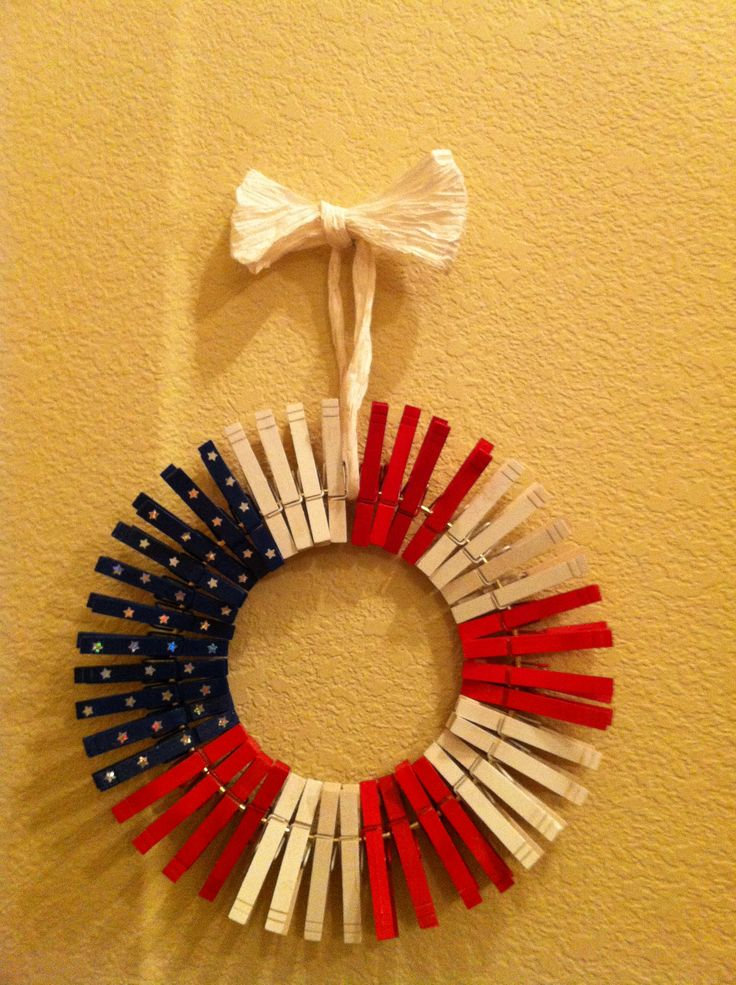 DYI flag wreath. Very easy. I made a big and small one.