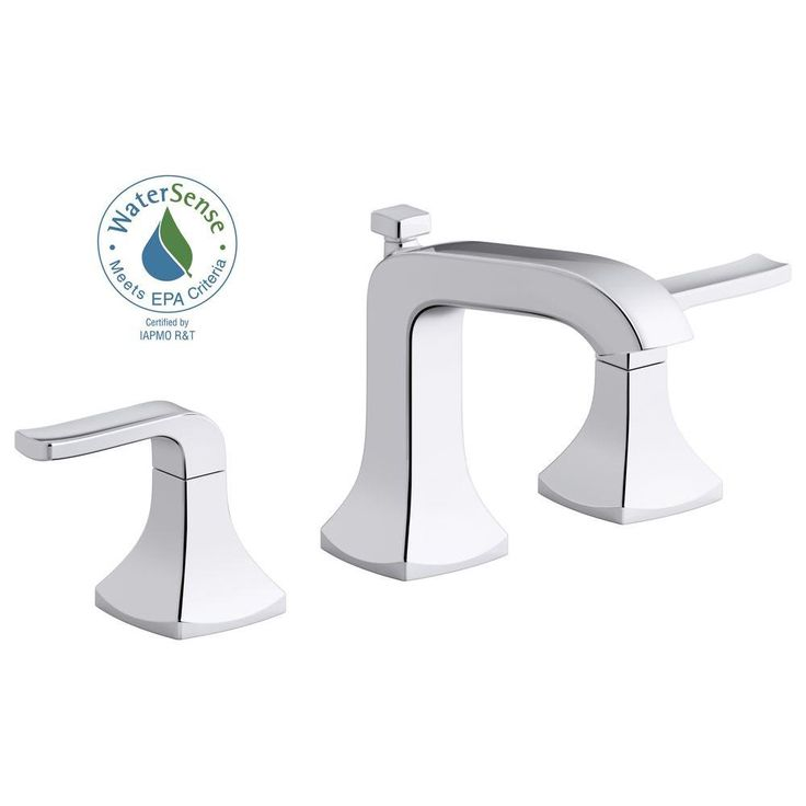 kohler rubicon 8 in widespread 2handle bathroom faucet in polished chrome