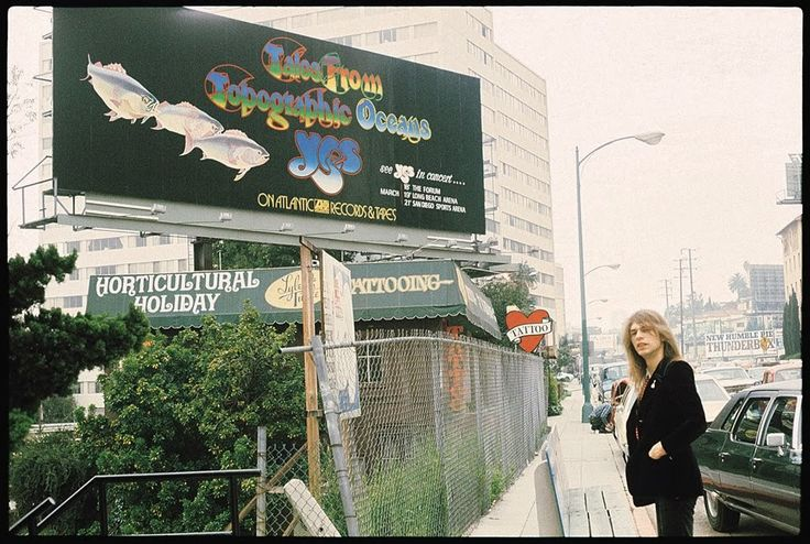 Steve Howe, guitarist for Yes and billboard advertisiment.