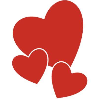 #Pegatina en #vinilo autoadhesivo con dibujo de #corazones