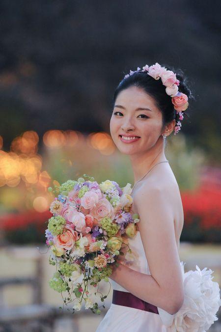 笑おう 2014年 新郎新婦様からのメール 笑顔のブーケ ホテルニューオータニ様へ : 一会 ウエディングの花