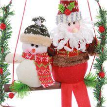 2016 nueva venta Puerta Árbol de Papá Noel Muñeco de Nieve de Navidad Ornamento Decoración Para El Hogar al aire libre christmnas árbol Colgando Colgante(China (Mainland))