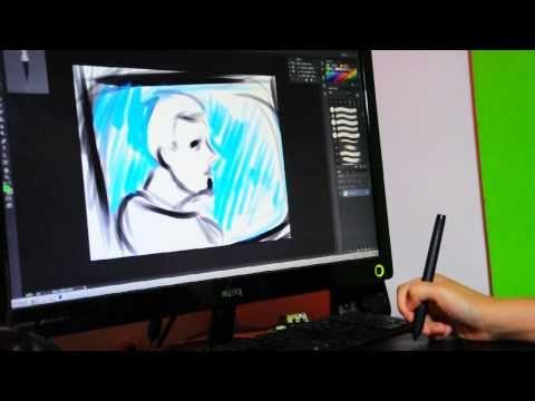 Huion H610 Pro Professional Pen Tablet in action, part 3