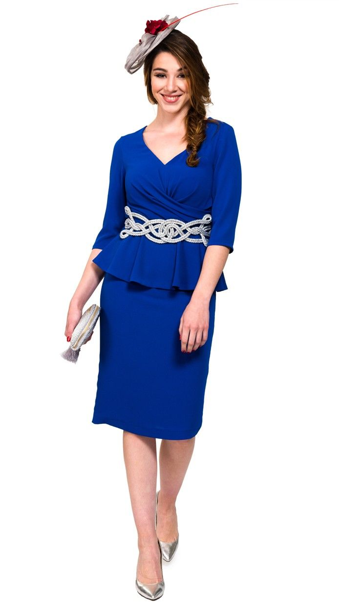 vestido azul pavo para disimular disponible en alquiler dresseos