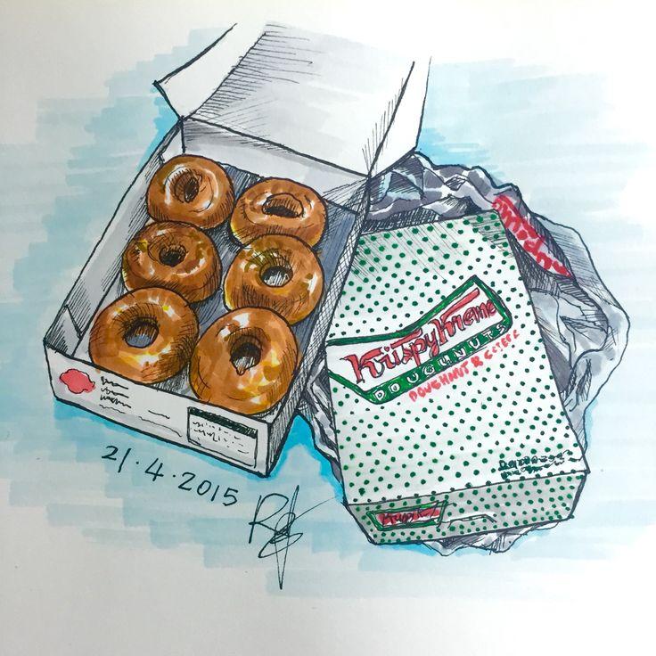 Krispy Kreme Doughnuts  From Korea : )  By my Best friend