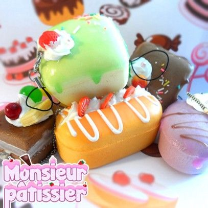 Soft and colorful eclairs to give a kawaii touch to your smartphone. The Monsieur Pâtissier lil' cakes look so yummy and soft that you'll have to keep them away from your friends… someone would surely try to bite them!