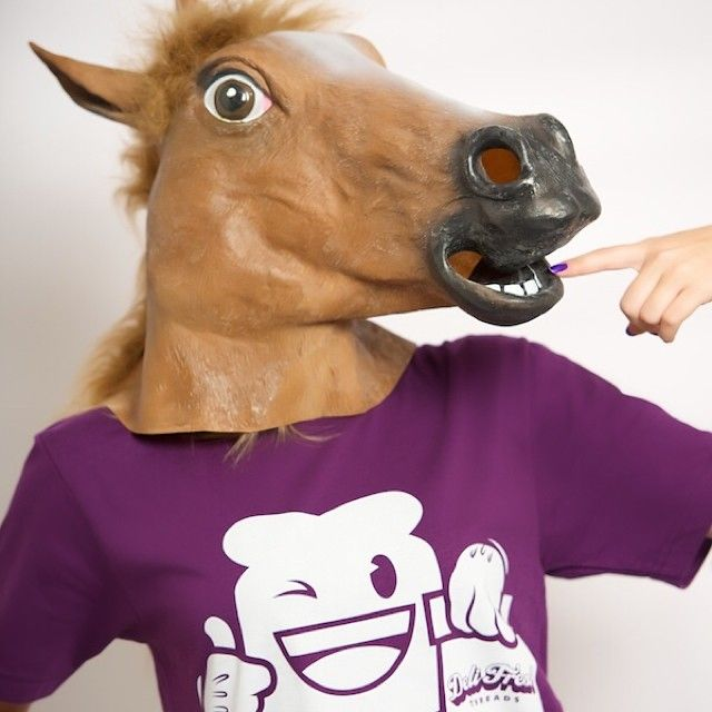 Don't horse around on waiting to get this tee. The Grape Jelly is a limited quantity release. Shop at DeliFreshThreads.com