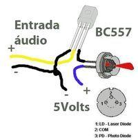 transmissor de audio laser