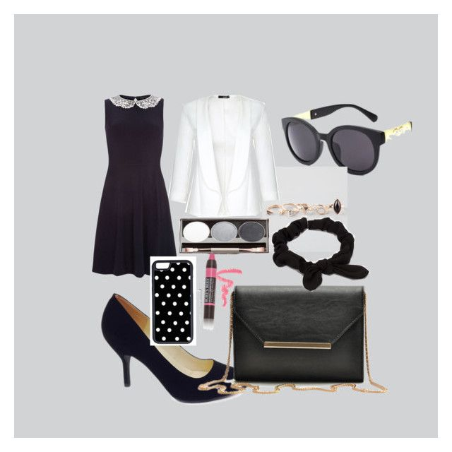 """""""Black, white, and gold"""" by celebritiesoutfits on Polyvore featuring Dorothy Perkins, Bamboo, Full Tilt, Quiz, Burt's Bees, NLY Accessories and CellPowerCases"""