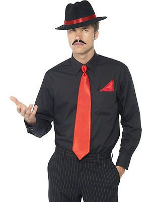 Mens 1920s #gangster fancy dress costume set – #trilby hat + tie + #handkerchie,  View more on the LINK: 	http://www.zeppy.io/product/gb/2/141384590476/