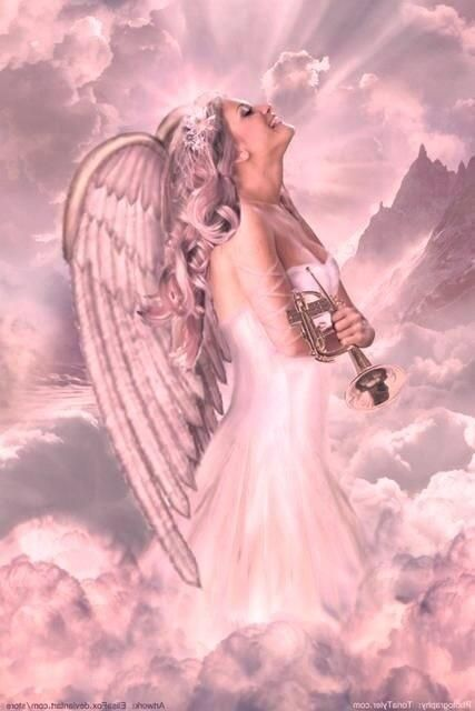 Angel in Pink...By Artist Unknown...