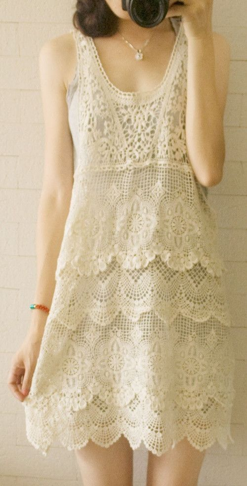 Antique style lace dress