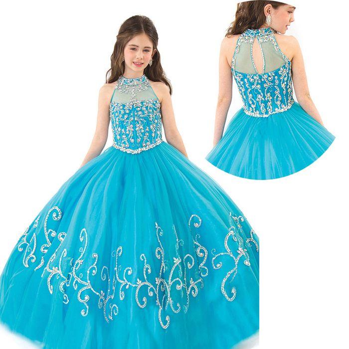 vestidos de graduación para primaria estilo princesa