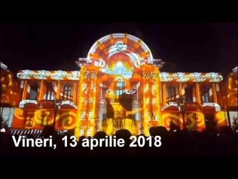 """""""Festivalul Luminii"""" - 2018, Bucureşti (fragment). Vineri 13 apr."""
