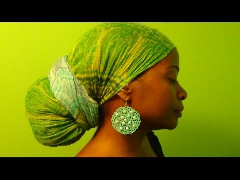Natural Hair Protective Style Head Wraps 1 - YouTube