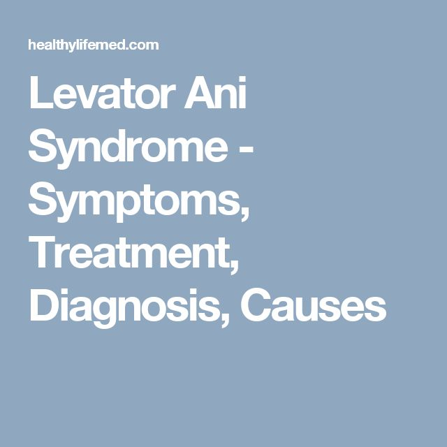 What causes levator syndrome-8746