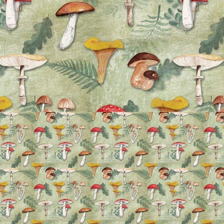 W jesiennym klimacie  - Na grzyby! http://cottonbee.pl/tkaniny/kwiaty-rosliny/8577-na-grzyby.html