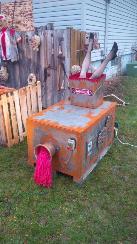 Halloween Meat grinder- A little bit on the cutesy side, but good for outdoors