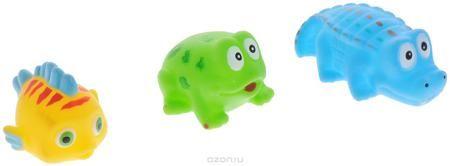 """ABtoys Набор игрушек для ванной Веселое купание 3 шт  — 221р. -- С набором игрушек для ванной ABtoys """"Веселое купание"""" принимать водные процедуры станет еще веселее и приятнее. В набор входят три игрушки - рыбка, лягушка и крокодил. Игрушки имеют яркие цвета. Набор доставит ребенку большое удовольствие и поможет преодолеть страх перед купанием. Игрушки для ванной способствуют развитию воображения, цветового восприятия, тактильных ощущений и мелкой моторики рук."""