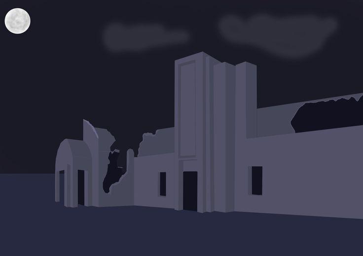 Old Building, Pedro Egerland on ArtStation at https://www.artstation.com/artwork/4PJbn