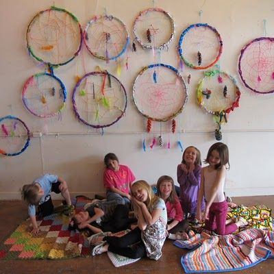 Giant dreamcatchers made by kids!