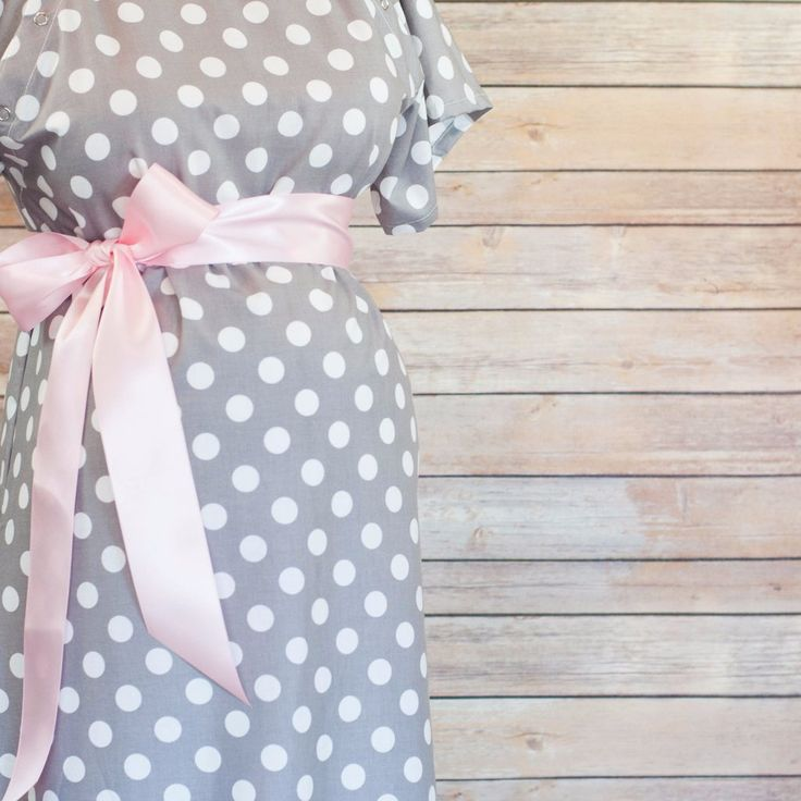 Maternity Hospital Delivery Gown by Mod Mum. Grab this must have item for your Hospital Bag! Best Baby shower gift for pregnant wife, or baby on the way!