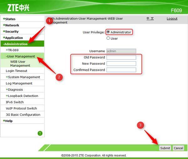 Mengganti Password Modem Zte F609