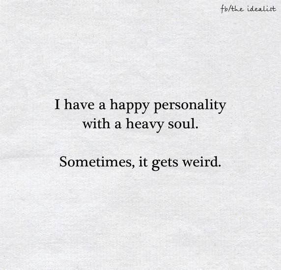 But it's all good. It's the very depth of me. Never a dull moment... ;-) ~ETS #oldsouls #selflove #weirdness